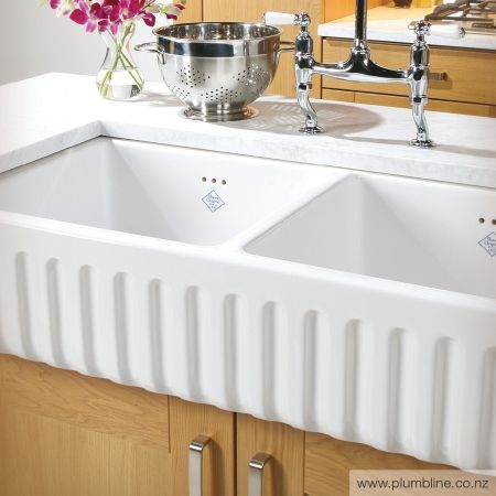 Ribchester 1000 Double Butler Sink - Butler Sinks - Kitchen