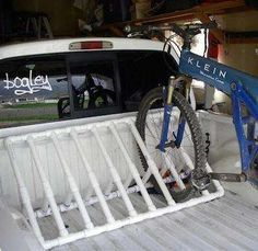 DIY Bike Rack from PVC Pipe