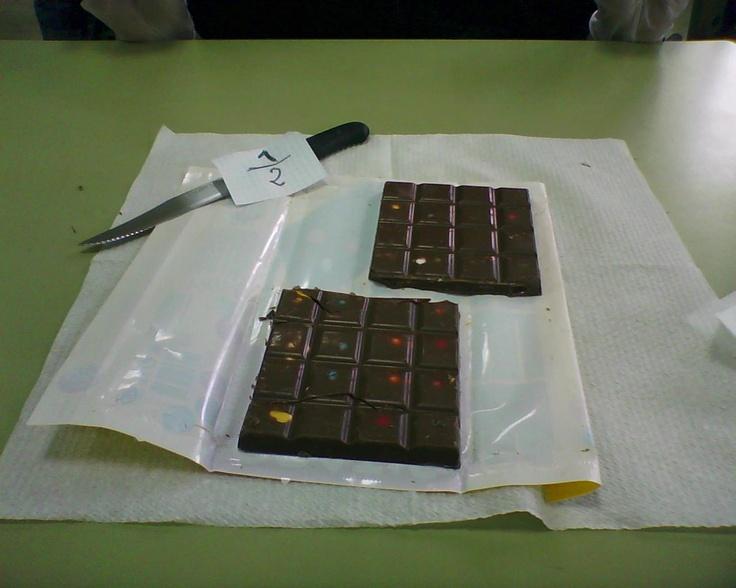 Aprendiendo fracciones con el chocolate