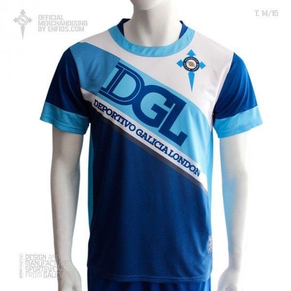 Official t-shirt DEPORTIVO GALICIA LONDON, season 2014 / 15.