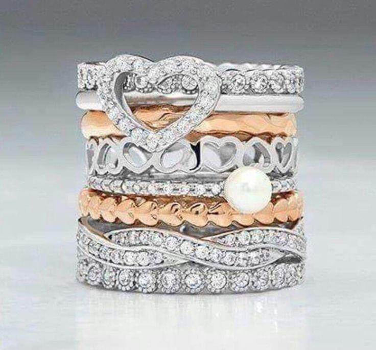 Beautiful stack rings