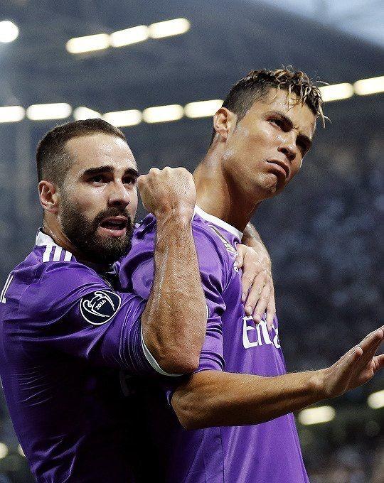Dani Carvajal and Cristiano Ronaldo