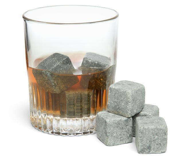 Have your favorite drink literally on the rocks without being watered from melting ice. This great gift for whiskey drinkers is made by handcrafted rocks.