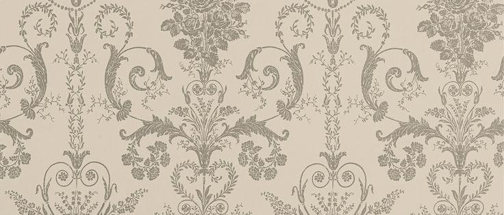 Josette Truffle Wallpaper at Laura Ashley