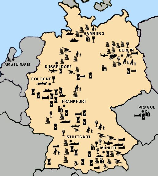 Map Of Castles In Germany - Bing Images