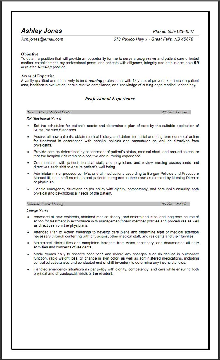 Sample Objective Resume For Nursing - http://www.resumecareer.info/sample-objective-resume-for-nursing-11/