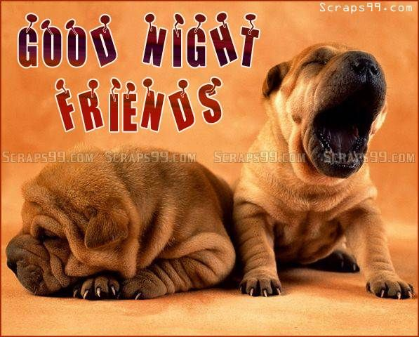 Cute Good Nite Wallpaper Good Night My Friends Facebook Cards Image