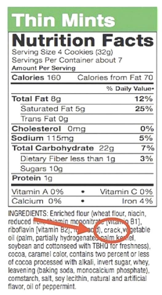 Thin Mints Nutrition Facts | Funny | Pinterest | Thin ...