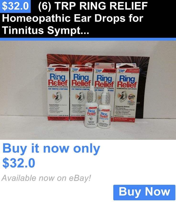 Ear Drops: (6) Trp Ring Relief Homeopathic Ear Drops For Tinnitus Symptoms 10Ml BUY IT NOW ONLY: $32.0