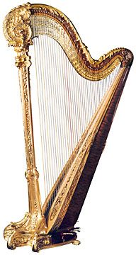 Louis XV Gold Concert Grand Harp, an amazing masterpiece, but with an astonishing price of almost $180,000