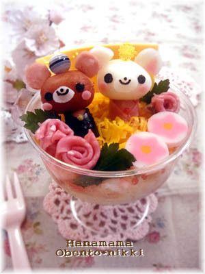 Bear Chirashi Sushi  in a cup