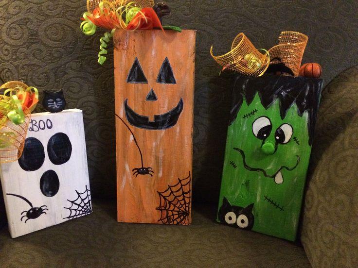 Halloween Fall Decor Blocks