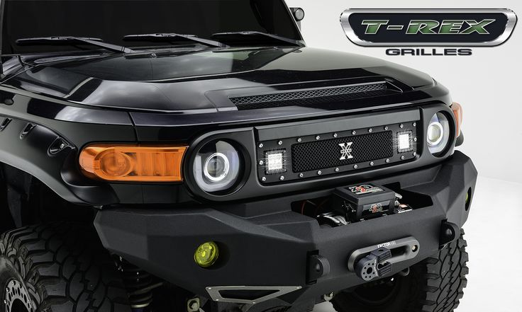 "Oh this is going ON Effy For SHÕ!! > 2007-2014 Toyota FJ Cruiser - TORCH Series LED Light Grille 2 - 3"" Cube LED Lights, Formed Mesh Grille, Studded Main Frame, Insert, 1 Pc, Black Powdercoated Mild Steel (For off-road use only)"