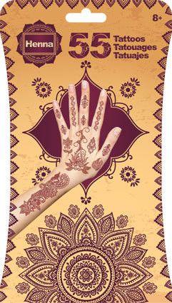 Henna Tattoos Assorted Mix Temporary Tattoos (55 Tattoos) Henna Tattoos
