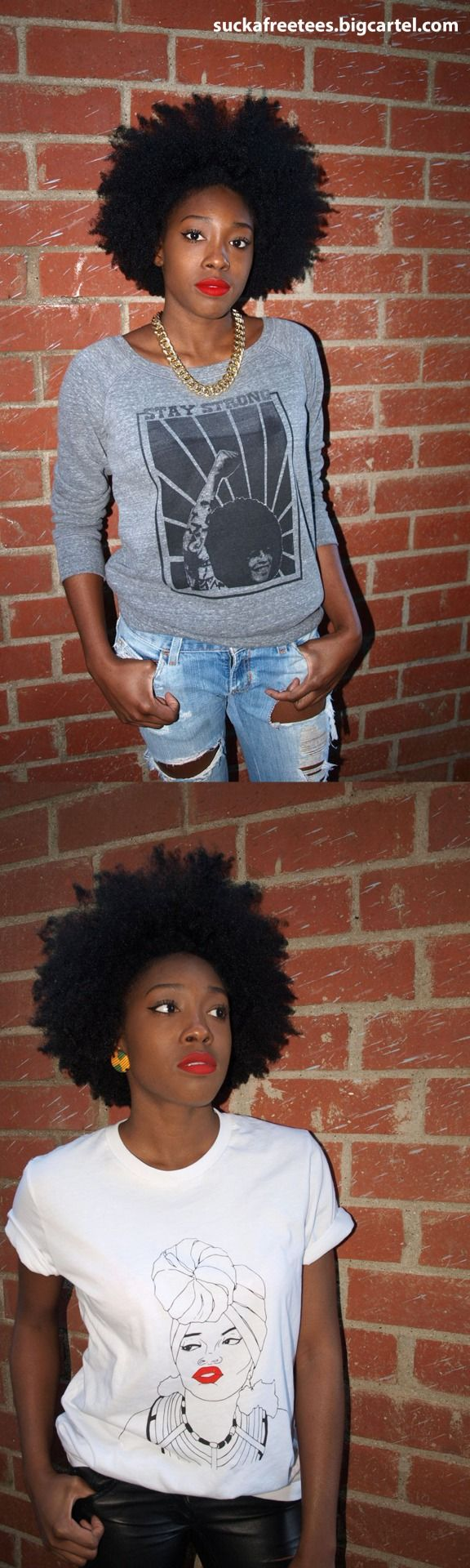 {Grow Lust Worthy Hair FASTER Naturally} ========================= Go To: www.shorthaircutsforblackwomen.com/natural-hair-style_pictures/ ========================= Oh My Gosh...Love the T-Shirts and Hair!!!!