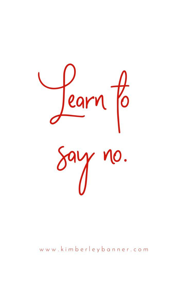 Learn to say NO - quote - women - entrepreneur - red and pink - business - social media #quote #socialmedia