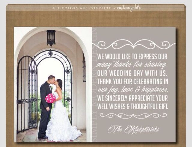 1000+ Ideas About Wedding Thank You Wording On Pinterest