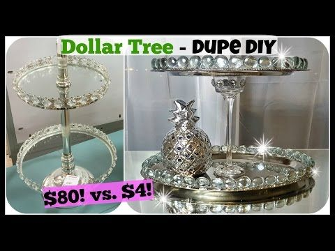 Dollar Tree Diy Home Decor Dupe 2 Tiered Tray Stand Glam