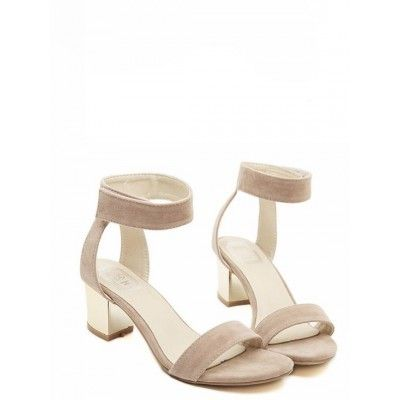 Fashion Style Cute Suede Peep Toe Futuristic Sandals Shoes