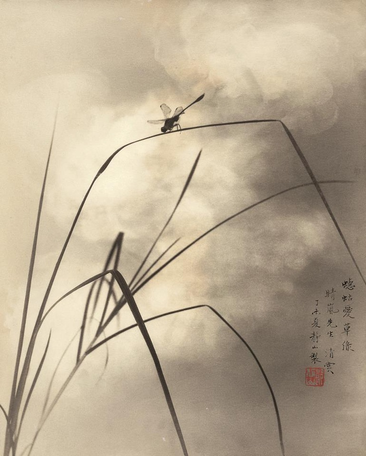 Chinese/Japanese Ink Paintings / Lang Ching-shan 郎静山 (1892 -1995), photo technique imitating Traditional Chinese paintings