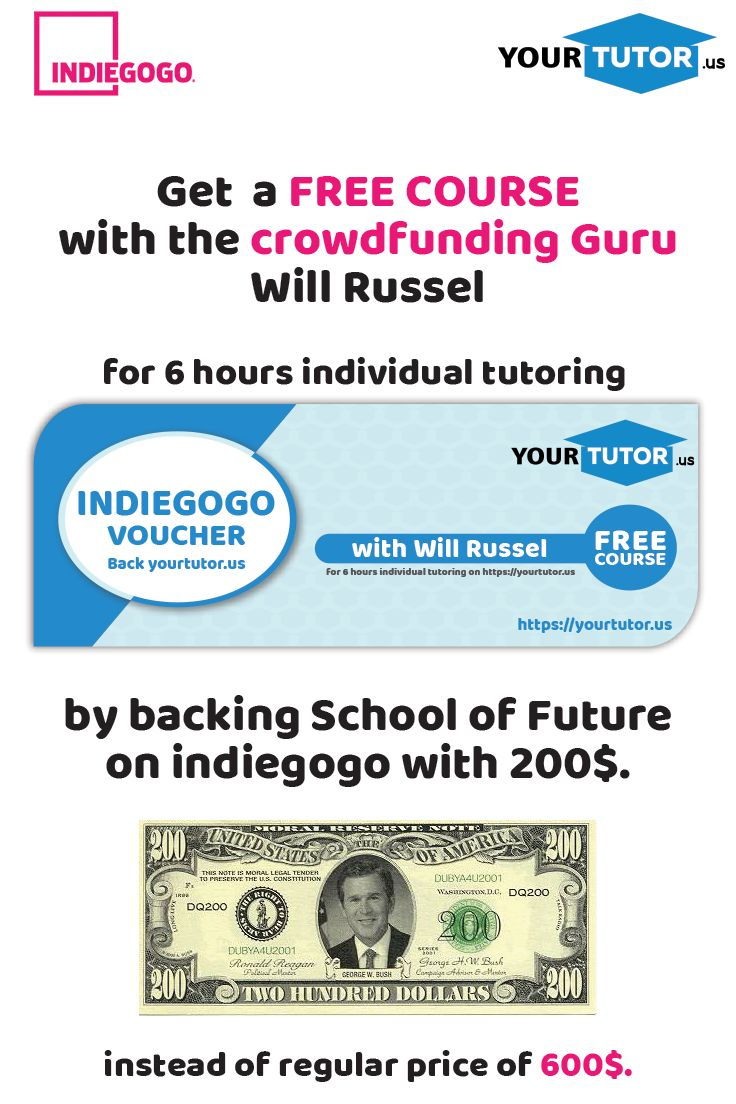 Back us with 200$ and get a free course with Will Russel! #freecourse #crowdfunding #freecrowdfundingcourse #willrussel #schooloffuture #virtualclassroom