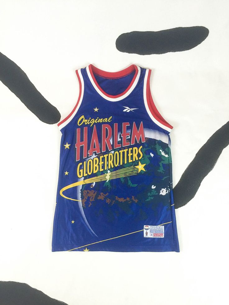 Vintage 90s Harlem Globetrotters Jersey/ M / Reebok Made in USA / Original Harlem Globetrotters Satin Basketball Jersey / Medium by badatpettingcats on Etsy