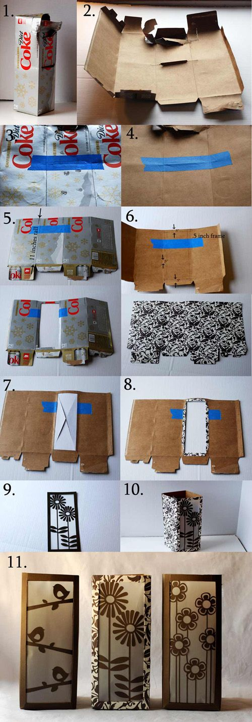 instruction guide for square paper lantern craft