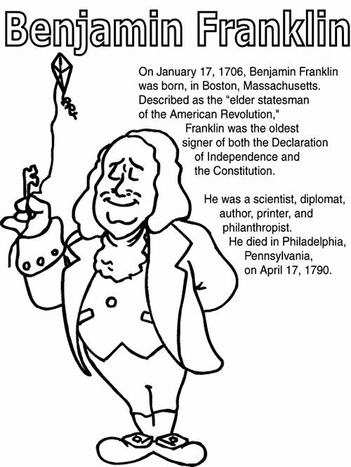 Benjamin Franklin Coloring Page Elegant 7 Best Images About