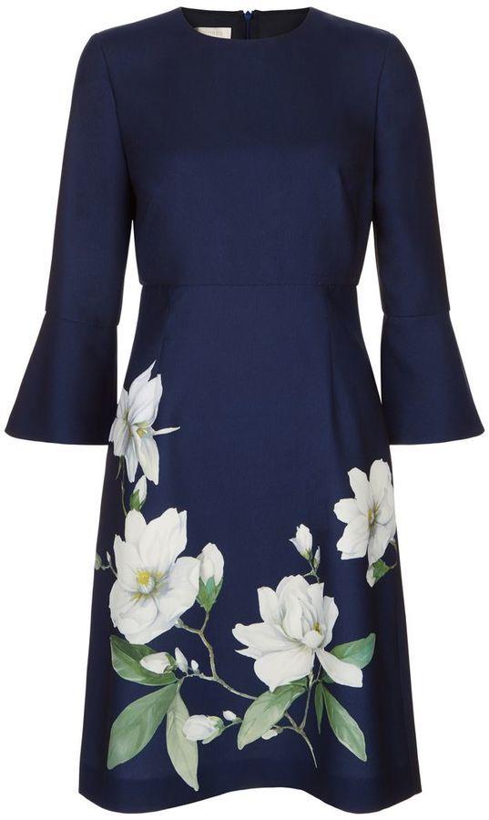 Hobbs Magnolia Print Dress