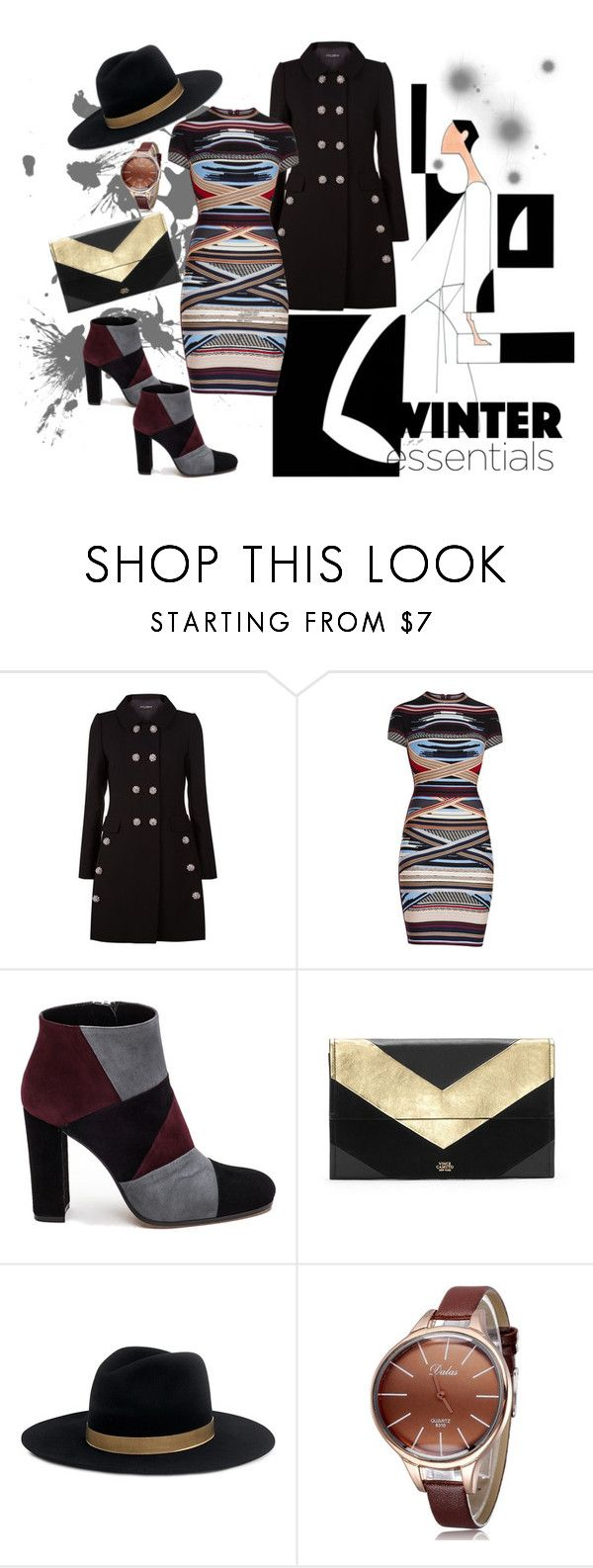 """""""Charm meets Glam"""" by donyee-mychal ❤ liked on Polyvore featuring Dolce&Gabbana, Hervé Léger, Roberto Festa, Vince Camuto and Janessa Leone"""