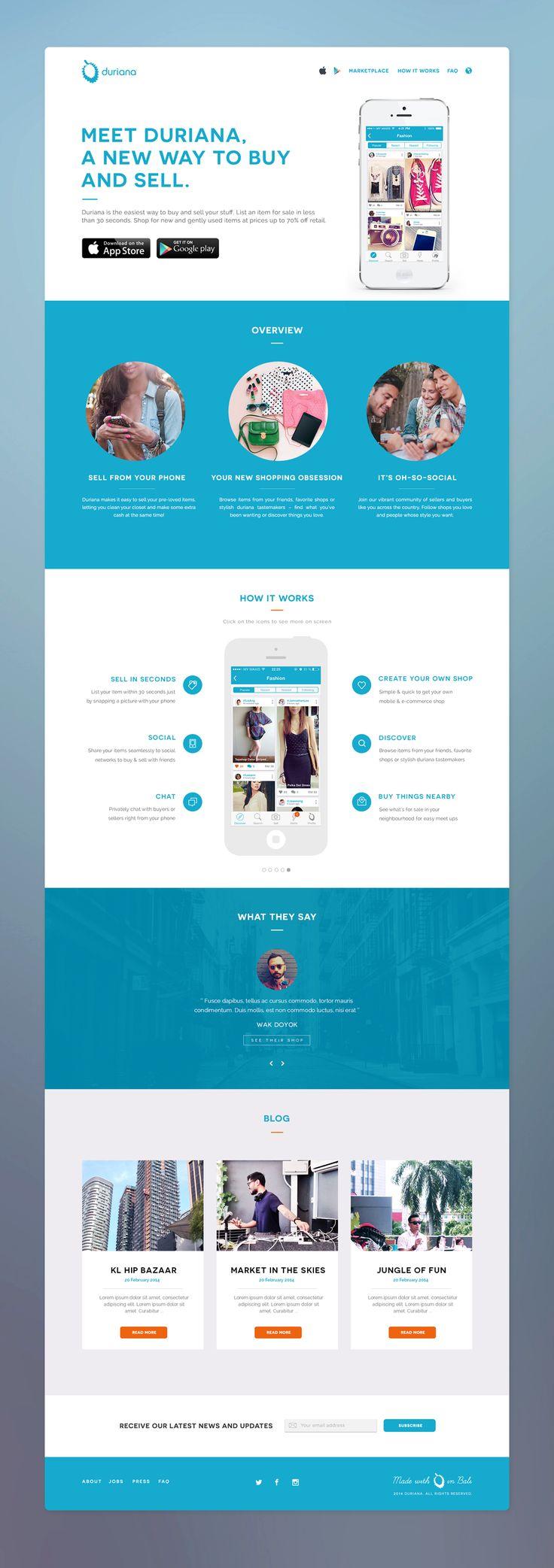 Website for new app - by Afdzal Ahmad | #ui #webdesign