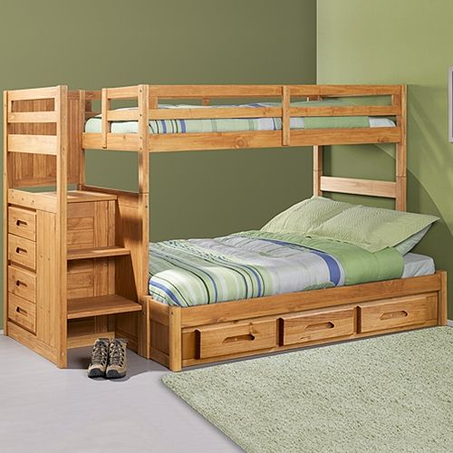 Style Of Discovery World Furniture Explorer Ginger Staircase Bunk Bed Ranch Twin Full For Your House - Model Of bunk bed world Pictures