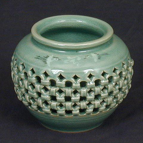 Pequeño Doble-ware Celadon Jar