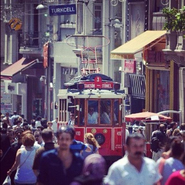 Nostalgic tram in Istanbul