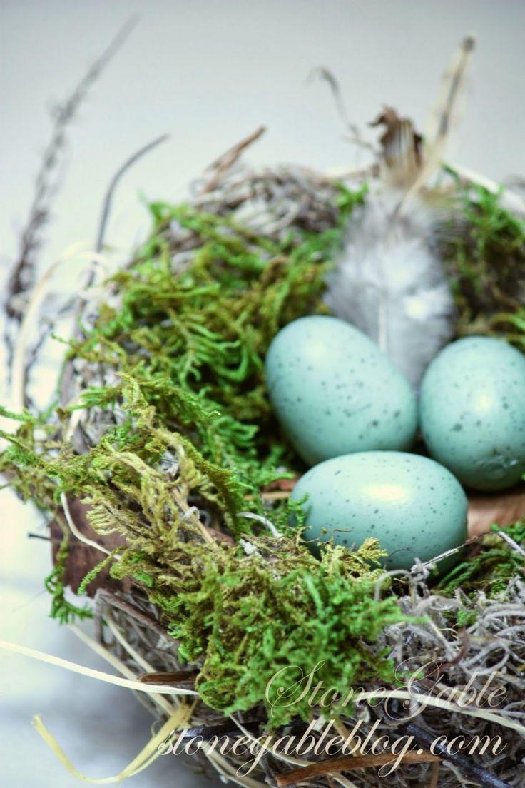 MAKE YOUR OWN SPRING BIRD'S NEST. It's easy! Here's how... stonegableblog.com