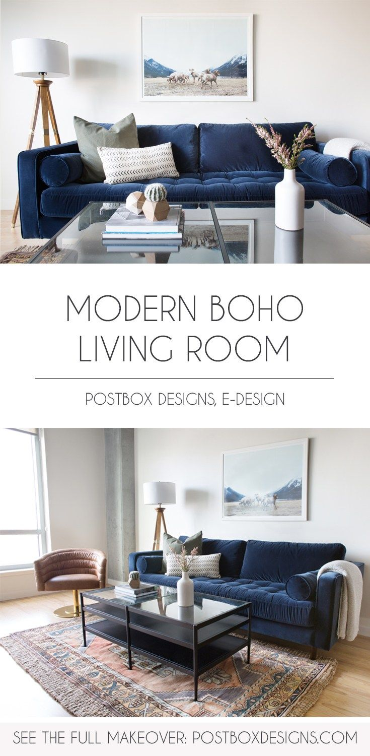 Postbox Designs Interior E Design A Modern Boho Living Room Dining Small Home Office Makeover Via Online