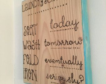 Laundry Schedule Sign Laundry Room Decor Laundry by ElegantSigns