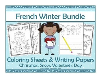 For French Immersion, Dual Language Programs, and French teachers, this packet is perfect for early finishers, rainy day recess, and seasonal classroom parties! Included is a bundle of coloring sheets and writing papers spanning Christmas, a snowy theme, and Valentine's Day. Packaged separately, each packet sells for $2. Purchase as a bundle and save $2! ($)