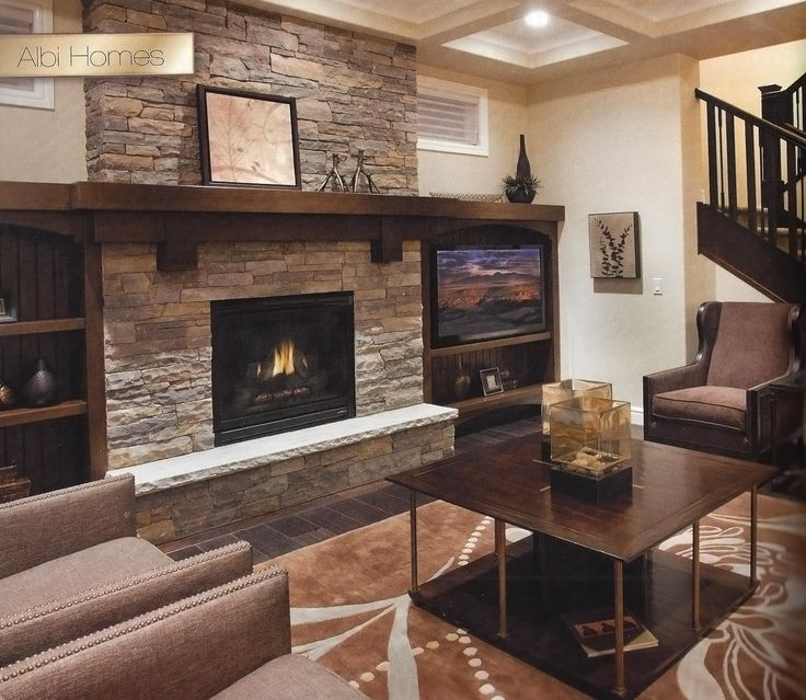 Natural Stone Fireplace With Wood Mantel Wood Mantels