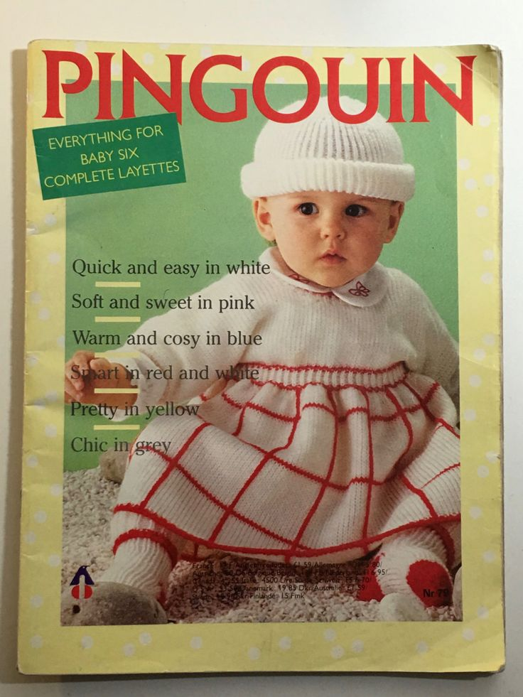 Penguin French vintage classic knitting book pingouin everything for baby six…