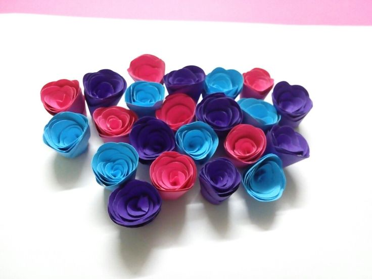 Small paper rose flowers.....