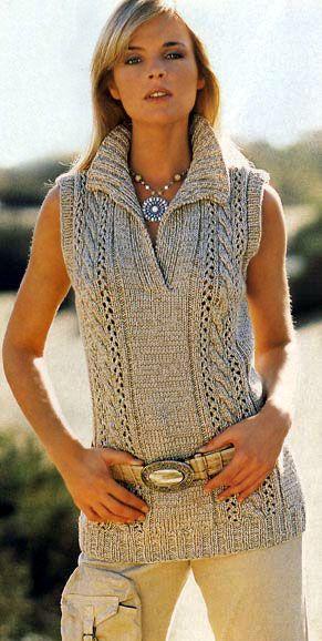 Пуловер без рукавов