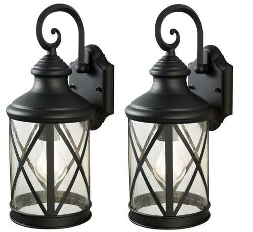 Sonoma 1-Light 16 Black Twin Pack Outdoor Wall Light at Menards $35.00
