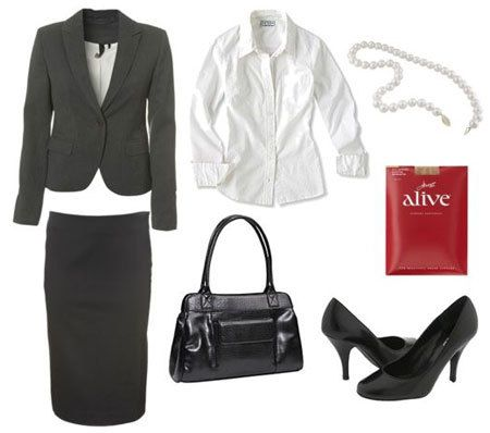 What  To Wear To A Job Interview: Conservative Outfit  [Work Fashion, Business Attire, Professional Attire, Professional Wear]