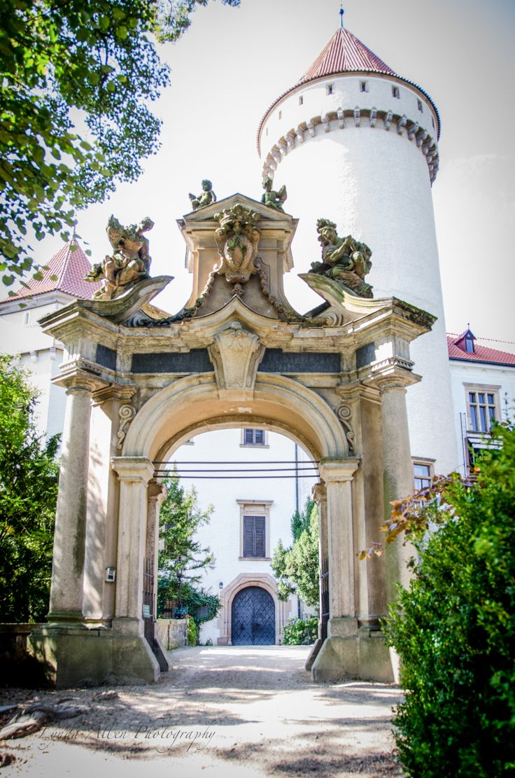 Konopiště, Czech Republic, about 50 km southeast of Prague.  The last residence of Archduke Franz Ferdinand of Austria whose assassination in Sarajevo triggered World War I.
