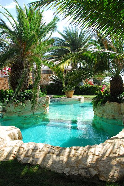 The exotic, lagoon-style pool at Indigo Villa. #pools, #architecture, https://apps.facebook.com/yangutu