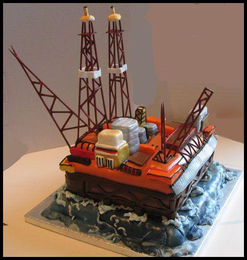 Oil rig cake | offshore cakes | Pinterest | Rigs, Cakes ...