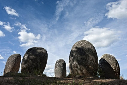Megalithic monument of Almendres, Evora, in Portugal. (Credit: © mrfotos_fotolia / Fotolia)