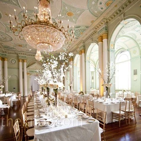 ballroom wedding reception- formal, classic white and ivory   The Biltmore Ballrooms   #wedding #receptions  ideas and inspiration