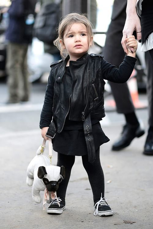 Taking style tips from this little cutie. #vans kids fashion. All black everything.
